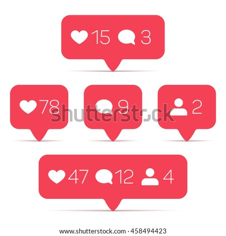 Template of counter with info for social networking. Illustration of web counter