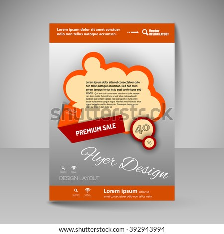 Template of flyer for business brochures, presentations, websites, magazine covers. Editable vector design elements.