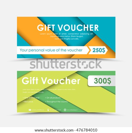 Vector black white gift card design stock vector 773311222 template of gift vouchers in style of material design a set of different color and negle Gallery