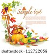 Template on a theme on the autumn harvest - stock vector