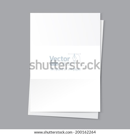 template paper a4 - stock vector