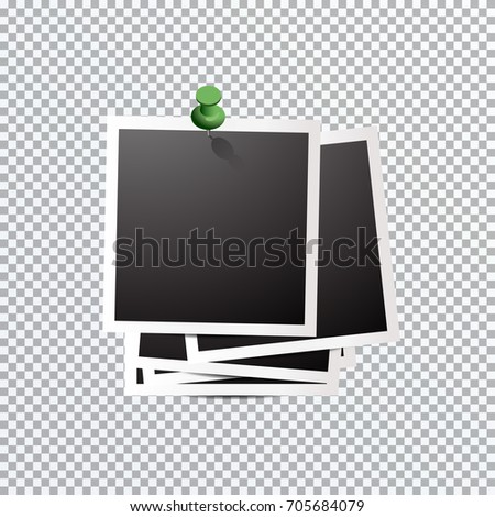 Template Polaroid Photo Stock Photo Photo Vector Illustration