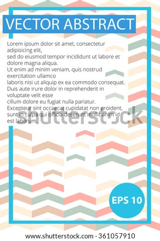 Template poster geometry.Abstract geometric background. Poster Geometric.Abstract colorful triangle background.Pastel colors background, poster, banner, billboard.