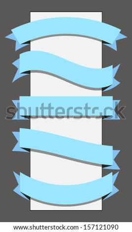 template ribbon banner - stock vector