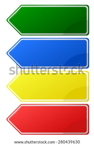 Template sign for a text - stock vector