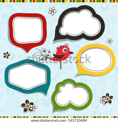 Template speak bubbles, vector illustration - stock vector