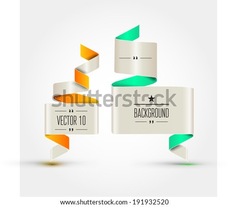 Template stickers, labels, tags for business artwork and infographics . - stock vector