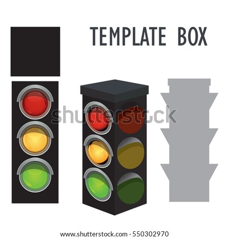 Template Traffic Light Out Paper Pattern Stock Photo (Photo, Vector ...