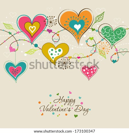 Template Valentine greeting card, vector illustration