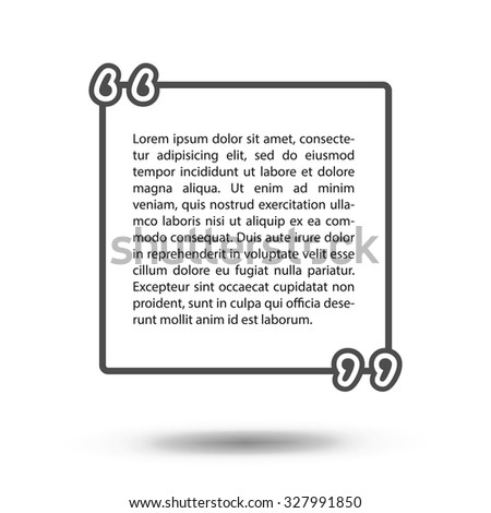 Template Vector Quotes Quote Blank Template Stock Vector 327991850