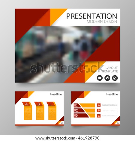 horizontal brochure template - red vector annual report leaflet brochure stock vector