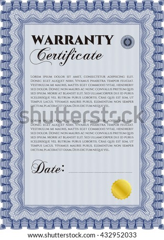 Warranty card stock images royalty free images vectors template warranty certificate with quality background border frame superior design yelopaper Choice Image