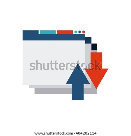 template web page with seo icon vector illustration design