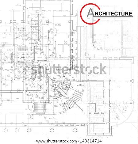 Template with architectural design elements for your business site - stock vector