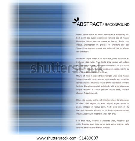 Template with blue stripes - stock vector