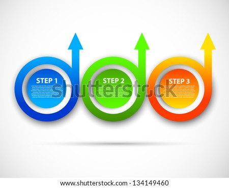 Template with circles and arrows - stock vector