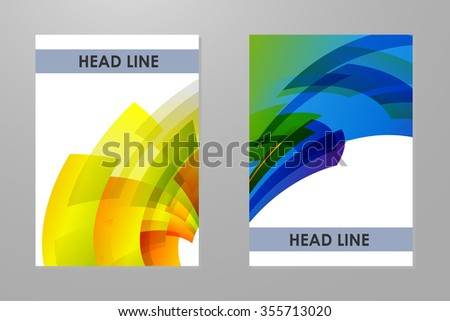 Template with colorful rainbow geometrical background. - stock vector