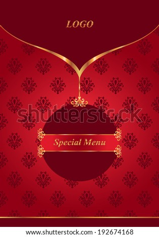 Template with elegant gold decoration - stock vector