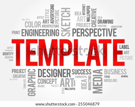 TEMPLATE Word Cloud Business Concept Stock Vector HD (Royalty Free ...