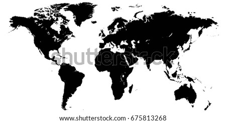 Template world map planet earth silhouettes stock vector 675813268 template world map planet earth silhouettes of continents and islands vector high detail gumiabroncs Choice Image