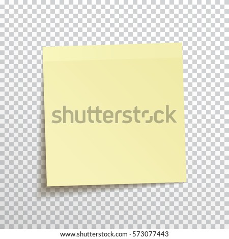 Template Yellow Sticky Note Isolated On Stock Vector