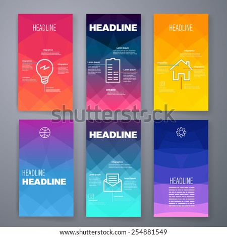 Templates Design Set Web Mail Brochures Stock Vector - Mobile app design templates