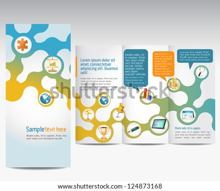 Templates for advertising brochure - stock vector