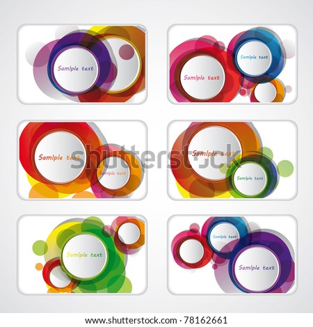 templates for business cards. - stock vector