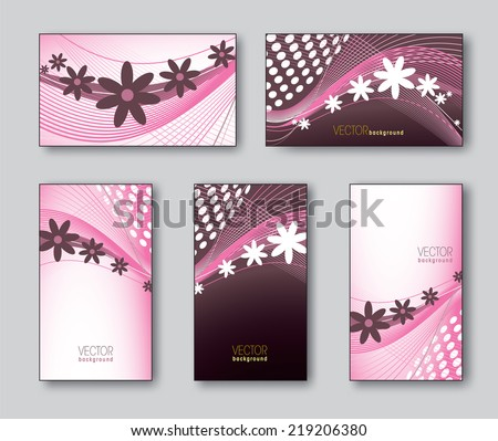 Templates for business/gift cards. - stock vector