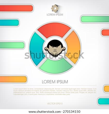 Templates diagram presentation human face schema stock vector templates for diagram and presentation human face in the schema ccuart Image collections