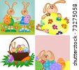 Templates for easter greetings card or postcard (EPS10) - stock photo