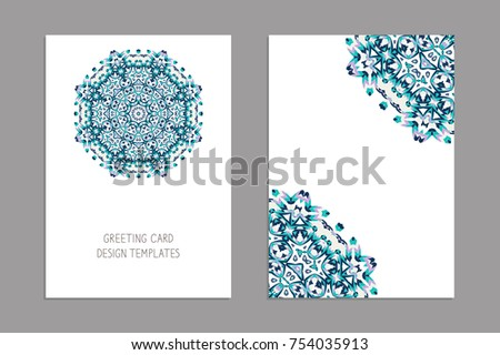 Templates greeting business cards brochures christmas stock vector templates for greeting and business cards brochures christmas ornament oriental pattern mandala colourmoves