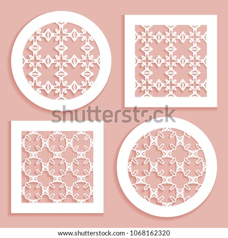 Templates Laser Cutting Plotter Cutting Printing Stock Vector ...