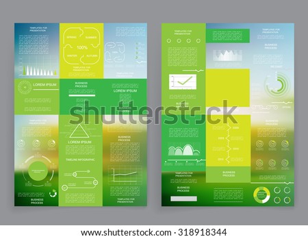 Templates for presentation 4 - stock vector
