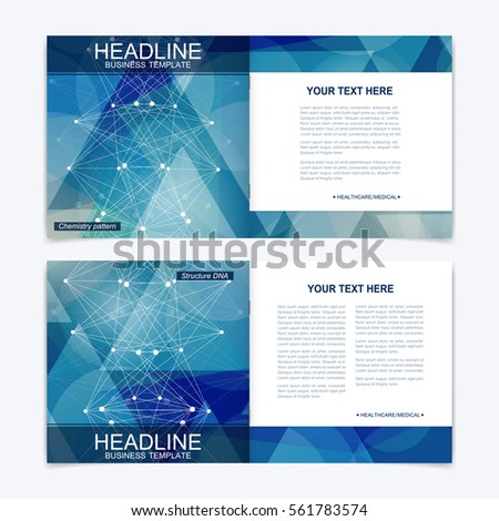 science brochure template - abstract business flyer template brochure design stock