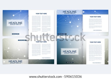 Templates Square Brochure Leaflet Cover Presentation Stock Photo ...
