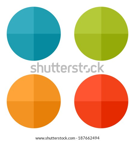 Templates for web icons or flat design elements. Eps 10 vector illustration. Used transparency layers for elements of layout - stock vector
