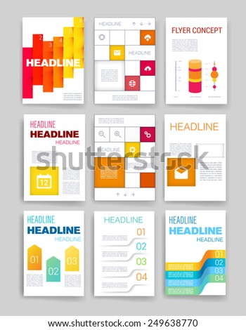 Templates. Set of Web, Mail, Brochure Design Templates. Mobile Technologies, Applications and Infographic Concept. Modern flat design icons for mobile or smartphone - stock vector