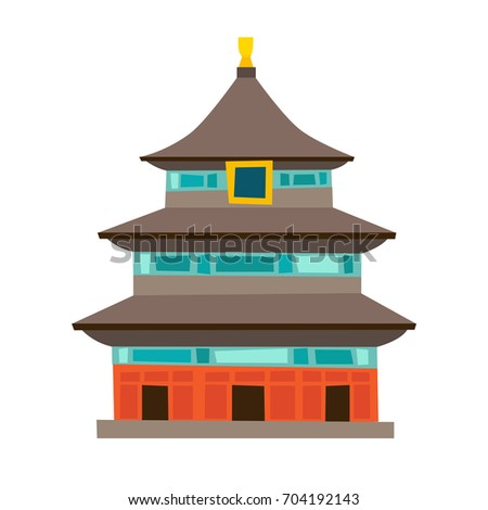 stock vector temple of heaven vector icon china house cartoon style chinese temple isolated on white 704192143