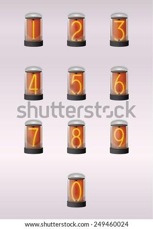 ten digits of clock - stock vector