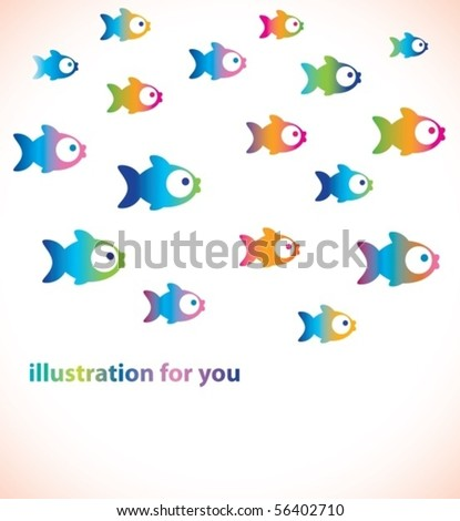 Tender background with fish - stock vector