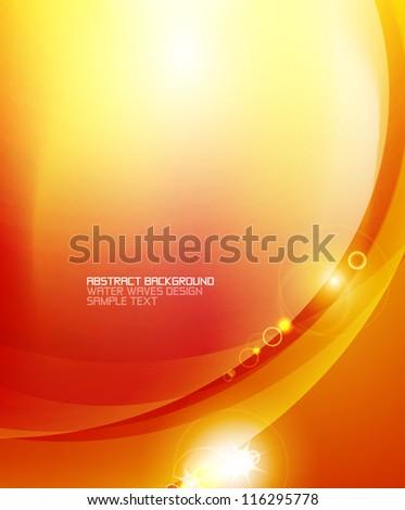 Tender orange light abstract background - stock vector