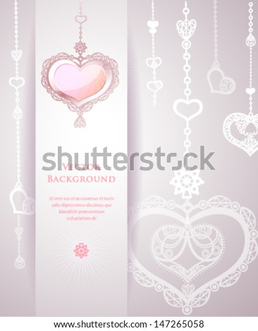 Tender wedding background. Vector illustration.