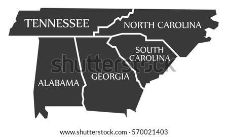 South Carolina Map Stock Images RoyaltyFree Images Vectors - Map of north carolina and south carolina