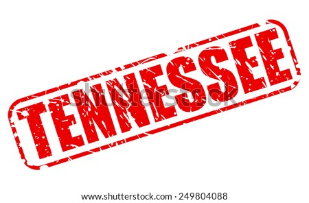 Tennessee red stamp text on white - stock vector