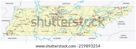 Tennessee Stock Images RoyaltyFree Images Vectors Shutterstock - Tn road map
