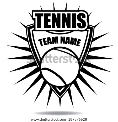 Tennis badge icon symbol  EPS 10 vector, grouped for easy editing. No open shapes or paths.