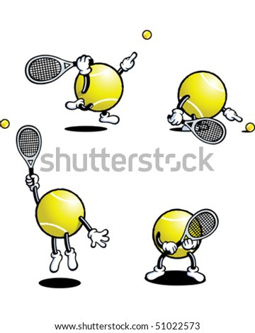 Tennis Ball Guy - stock vector