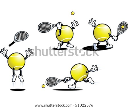 Tennis Ball Guy 1 - stock vector