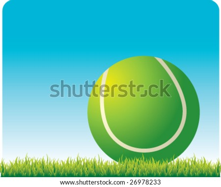 tennis ball outside